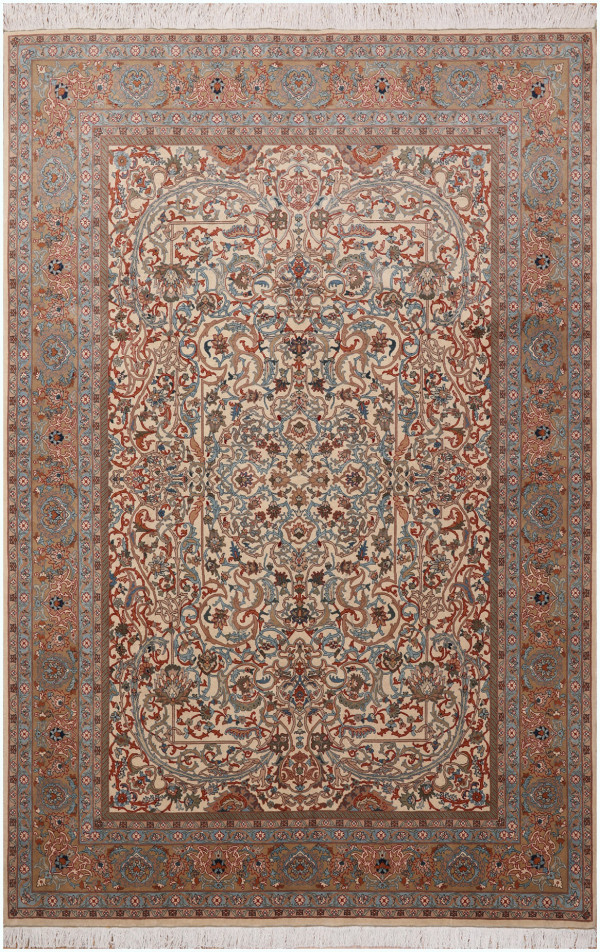 #51401 Tabriz Antique Persian Rug