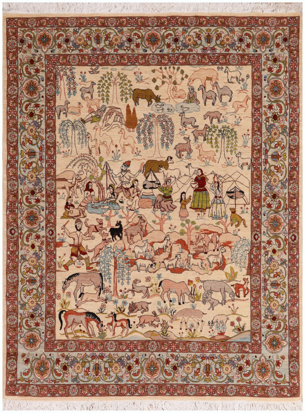 #51416 Tabriz Persian Rug