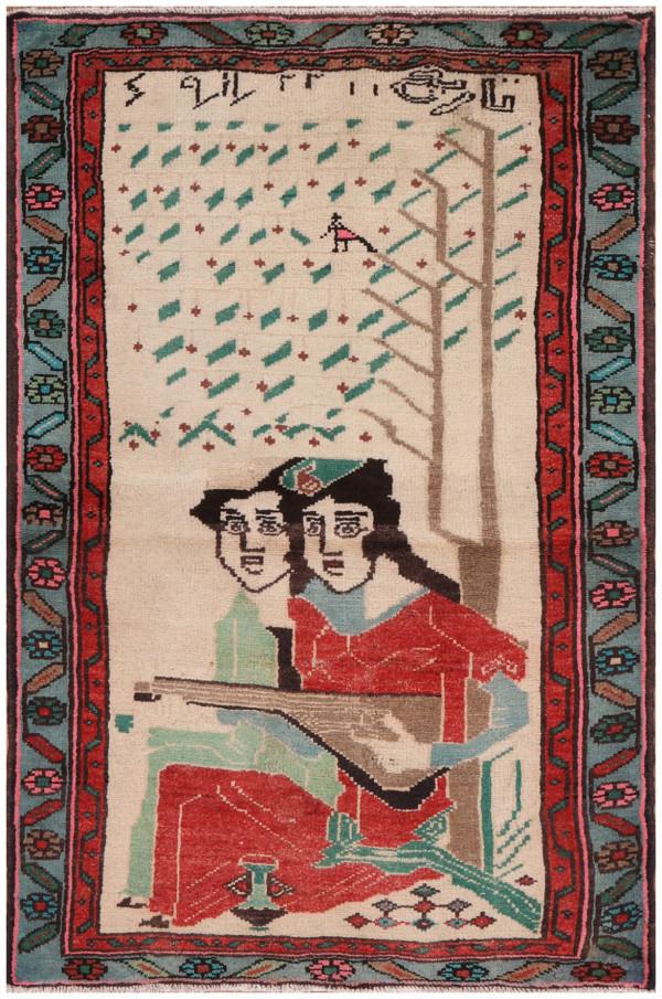 #51457 Hamedan Persian Rug