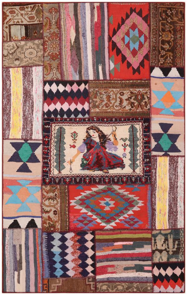 #51492 Patchwork Persian Rug
