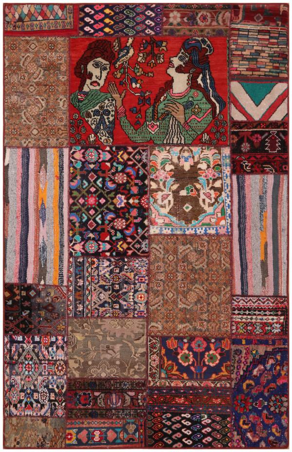 #51494 Patchwork Persian Rug