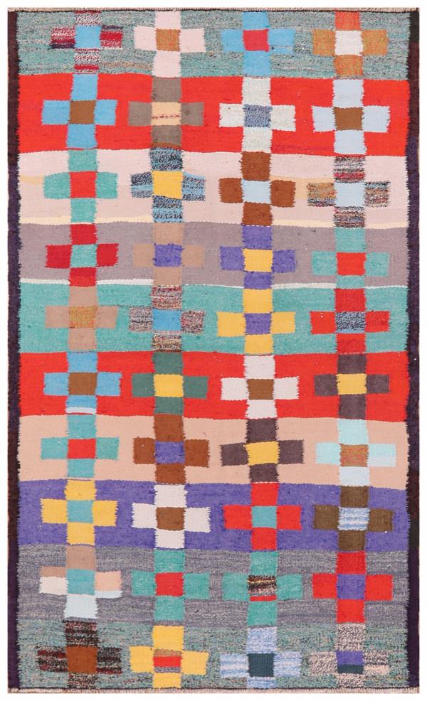 #51750 Vintage Kilim Persian Rug