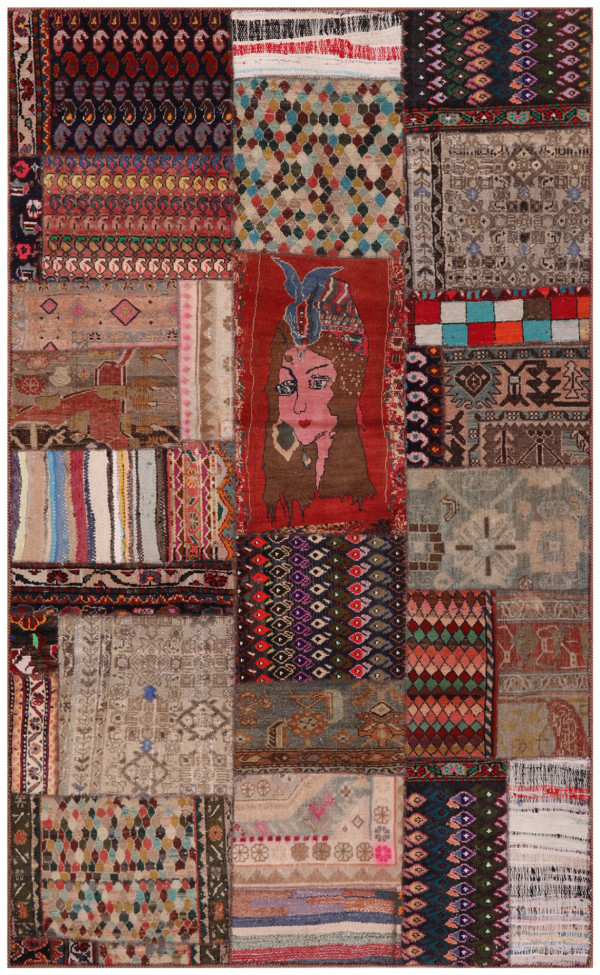 #51945 Patchwork Persian Rug