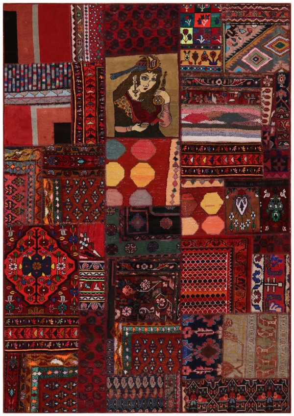 #52061 Patchwork Persian Rug