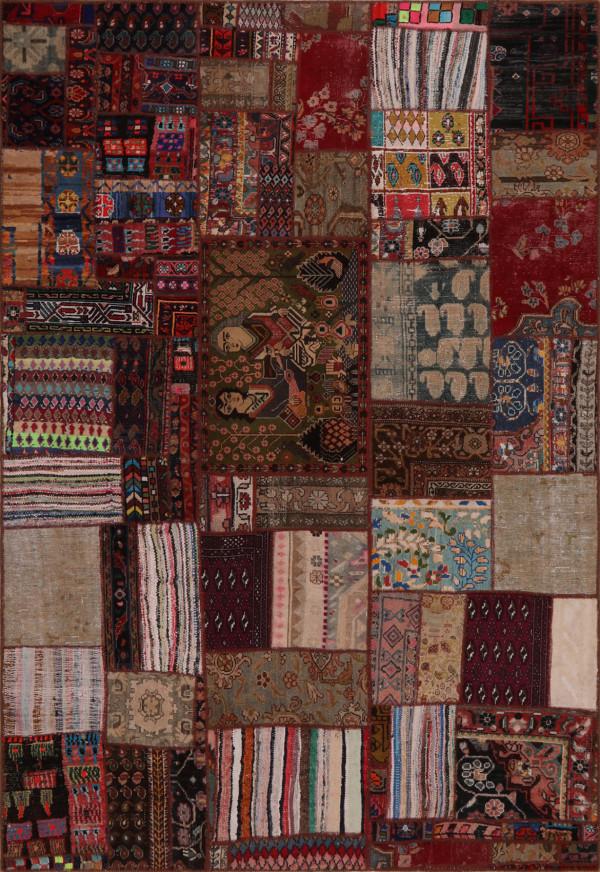 #52078 Patchwork Persian Rug