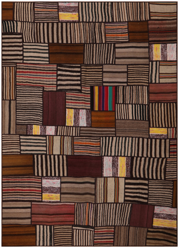 #52083 Patchwork Kilim Persian Rug
